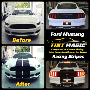 Ford Mustang Racing Stripes at Tint Magic Window Tinting