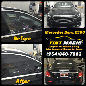 Mercedes Benz E300 at tint Magic window Tinting Coral Springs