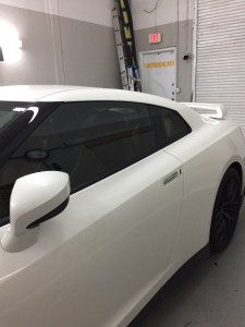 Nissan GTR at Tint Magic Window Tinting serving Parkland, Coral Springs, Tamarac, Coconut Creek, Margate, Sunrise, Weston