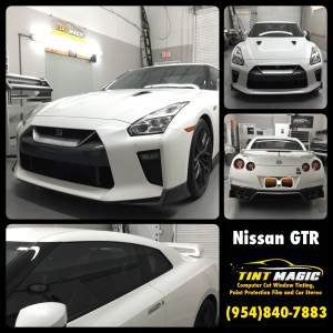 Nissan GTR at Tint Magic Window Tinting Coral Springs