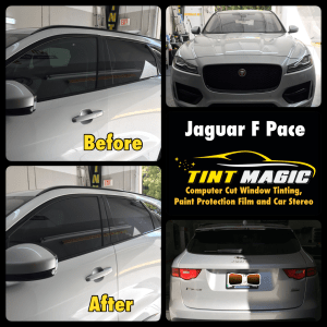 Jaguar F Pace at Tint Magic Window Tinting Coral Springs