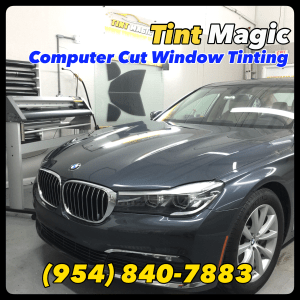 BMW 740i Window Tinting at Tint Magic Window Tinting Coral Springs