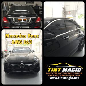 Mercedes Benz AMG E63 at tint Magic window Tinting Coral Springs