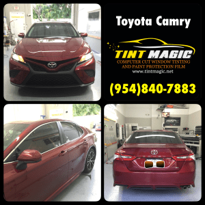 Toyota Camry 2018 at Tint Magic Window Tinting Coral Springs
