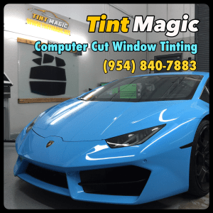 Lamborghini Huracan at Tint Magic Window Tinting Coral Springs