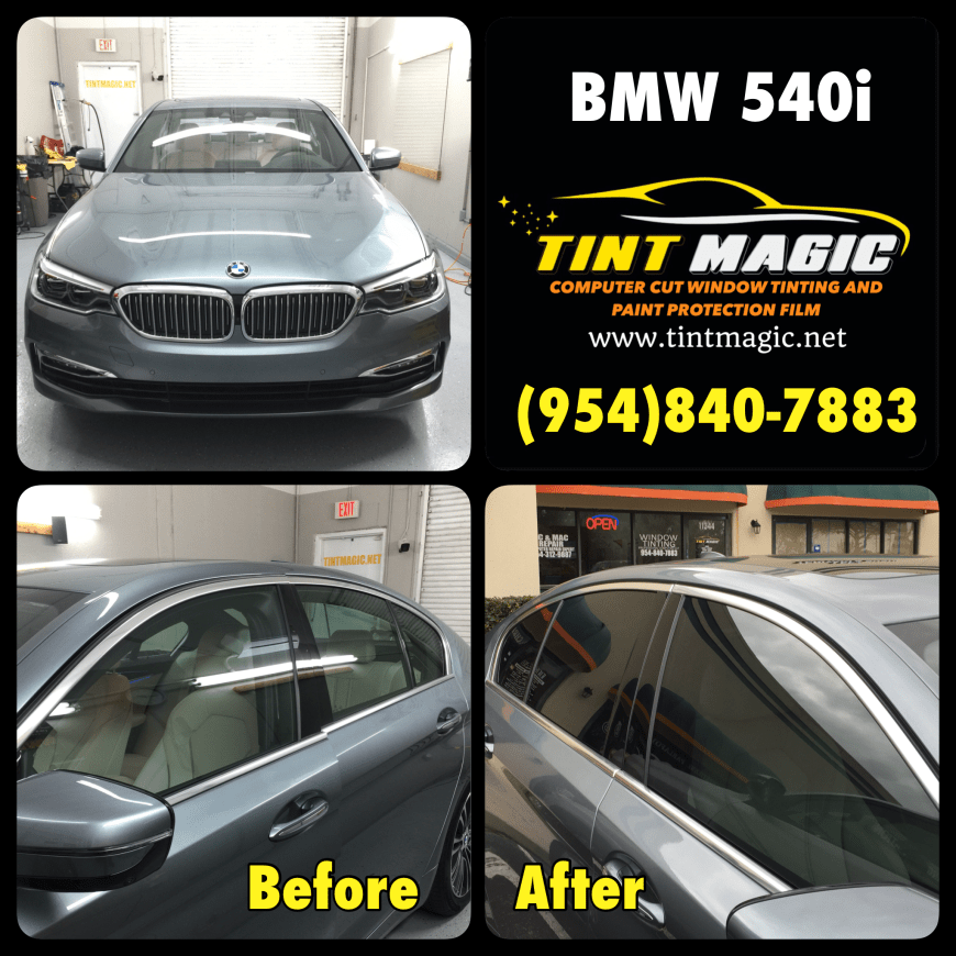 BMW 540I Window Tinting at Tint Magic Window Tinting Coral Springs