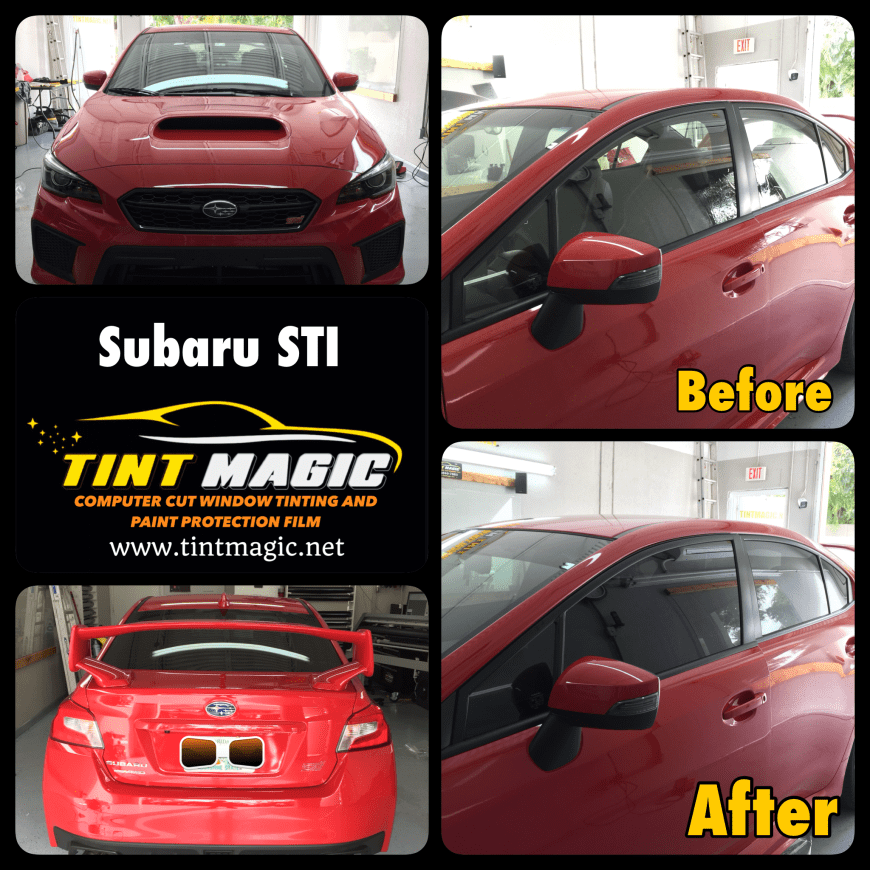 Subaru STI Window Tint at Tint Magic Window Tinting
