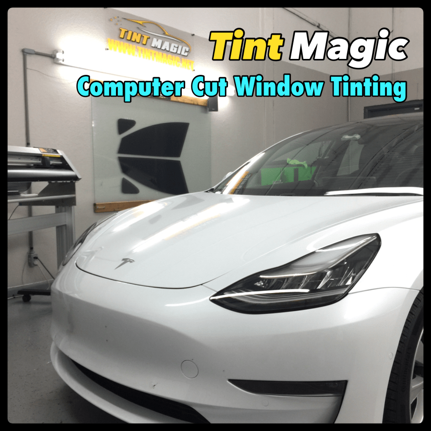 Tesla Model 3 2020 at Tint Magic Window Tinting Coral Springs. Call us! (954) 840-7883