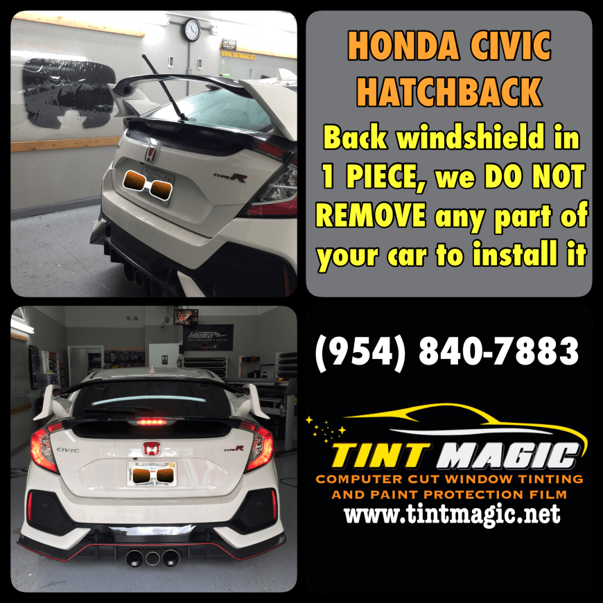 Honda Civic Type R at Tint Magic Window Tinting