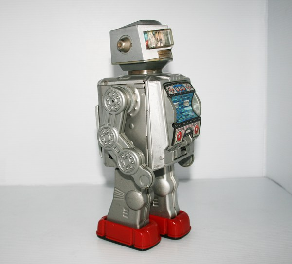 Horikawa Japan 60s Silver Space Astronaut Robot Battery