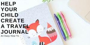 create a kid travel journal