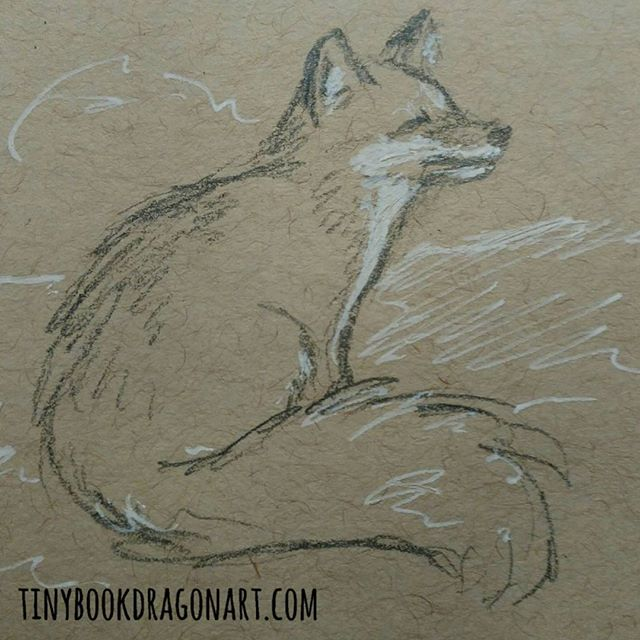 Because the commission I am working on just got resized bigger so have to wait for more paper. And because I saw a lovely fox photo and thought why not..#fox #animals #drawing #pencil #gellyroll #strathmore #tonedpaper #illustration #illustrationart #art #sketchbook #sketch #pencilsketch