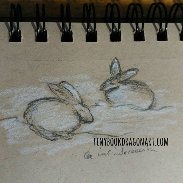 A few quick #pencil #sketch #bunnies (technically #hare ) but bunnies are more fun inspired by @infiniteroberta (for whom once upon a time I illustrated a card game, Sherwood Showdown.) #art #sketchbook #sketches #rabbit #snow #prismacolor #coloredpencil #strathmore #tonedpaper #illustration
