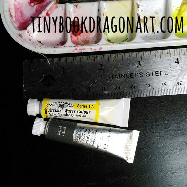 Professional watercolors=Liquid gold..Working on commission. Ran out of paint. Those two tiny tubes are $10 a piece. And those are the cheapest colors.  Glad I didn't need the $20 ones. And I did get a couple new brushes on sale, only $2 each. This, not just time and effort, is why art is so expensive. .#artsupplies #liquidgold #Watercolor #artistproblems #artistwoes #artist #illustrator #Watercolor