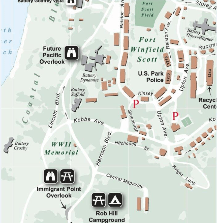 Rob Hill Parking Map