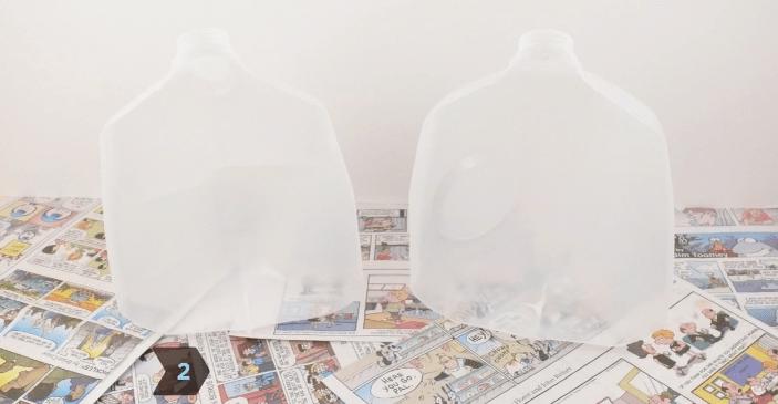 Cut the jug in half
