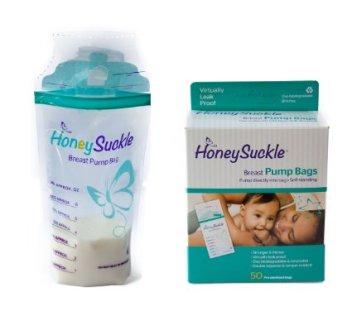 Honeysuckle Breast Milk Storage Bags
