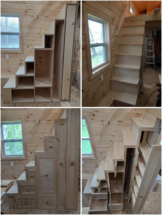 Finish Work On The Tiny House Stairs