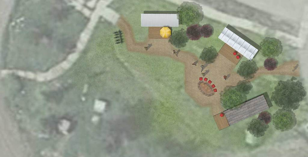 Tiny Homes Community Layout render example