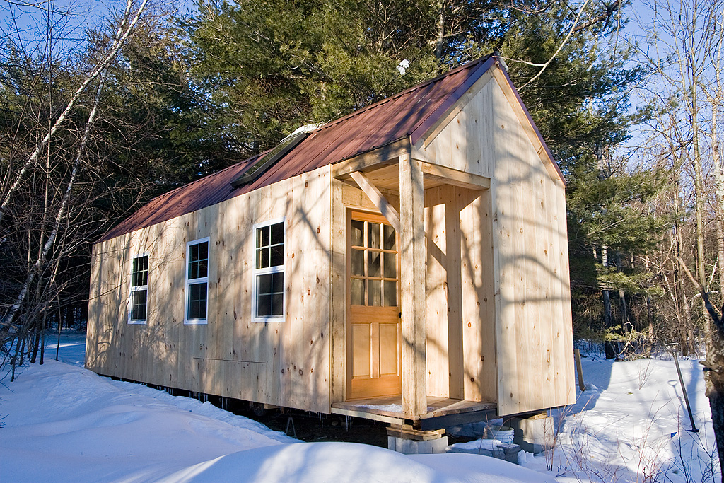 Minimal mansion timber frame tiny house for How to build a timber frame house