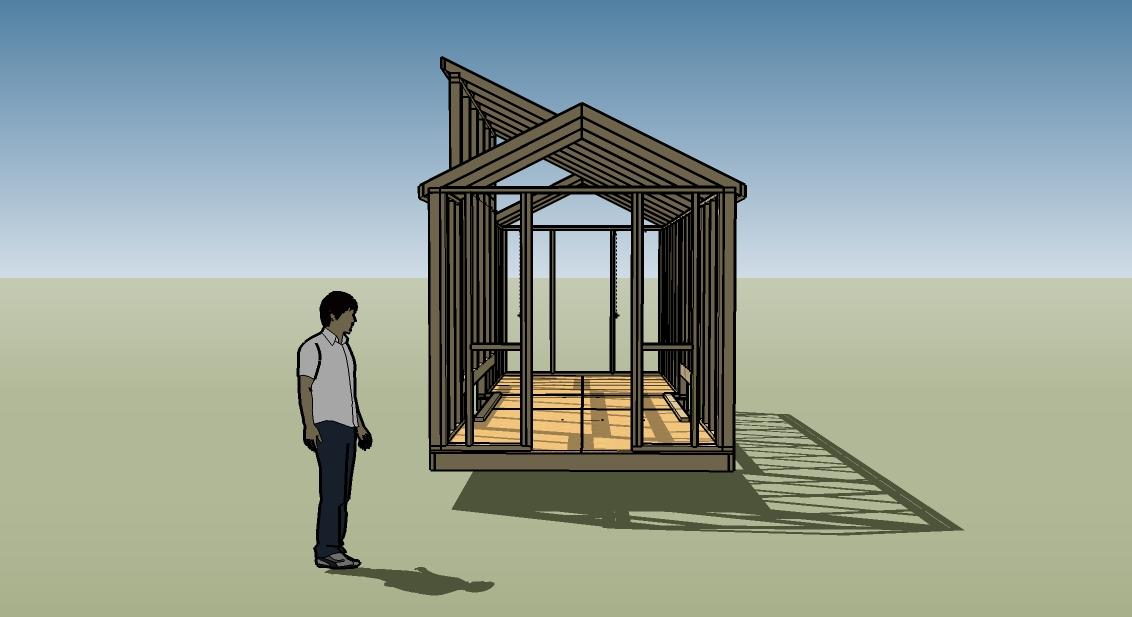 8 20 solar house plans progress report for Small solar house plans