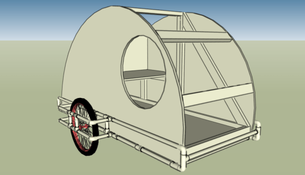 PVC Teardrop Bike Trailer