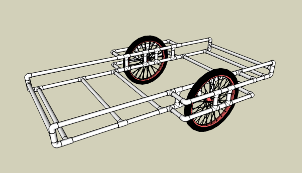 PVC bike Trailer diagram