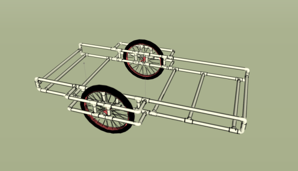 PVC bike trailer