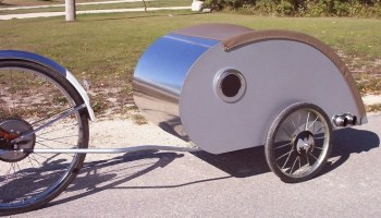 Ultralight Teardrop Trailer For A Bicycle
