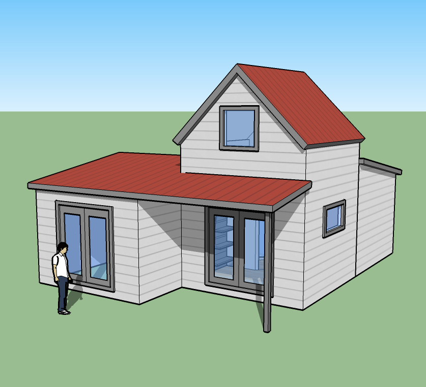 Tiny simple house is off the back burner for Home designs drawings