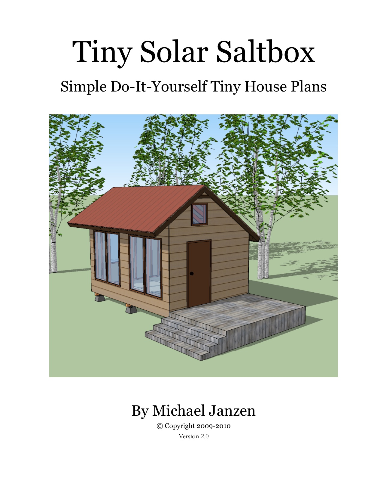 Tiny solar saltbox cover for Small saltbox house plans