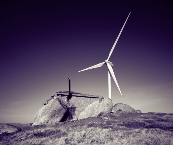 rock house wind turbine