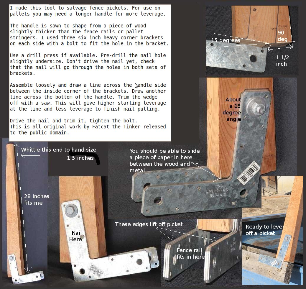 Homemade Tool For Pallet And Fence Picket Salvage