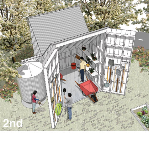 Green shed design competition winners for Small house design competition