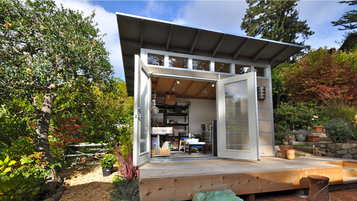 Studio shed for Backyard office kit