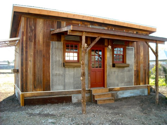 reclaimed space small house porch