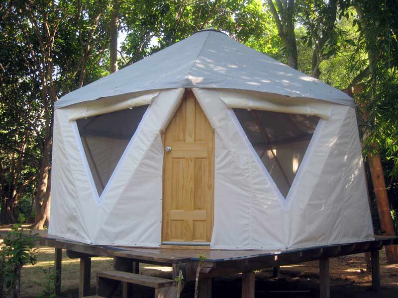 Yome Home - Hybrid Yurt Dome & Concrete Canvas Shelters u2013 Just Add Water