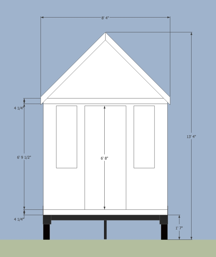 Road limits for tiny houses on trailers for Blueprint of a house with measurements