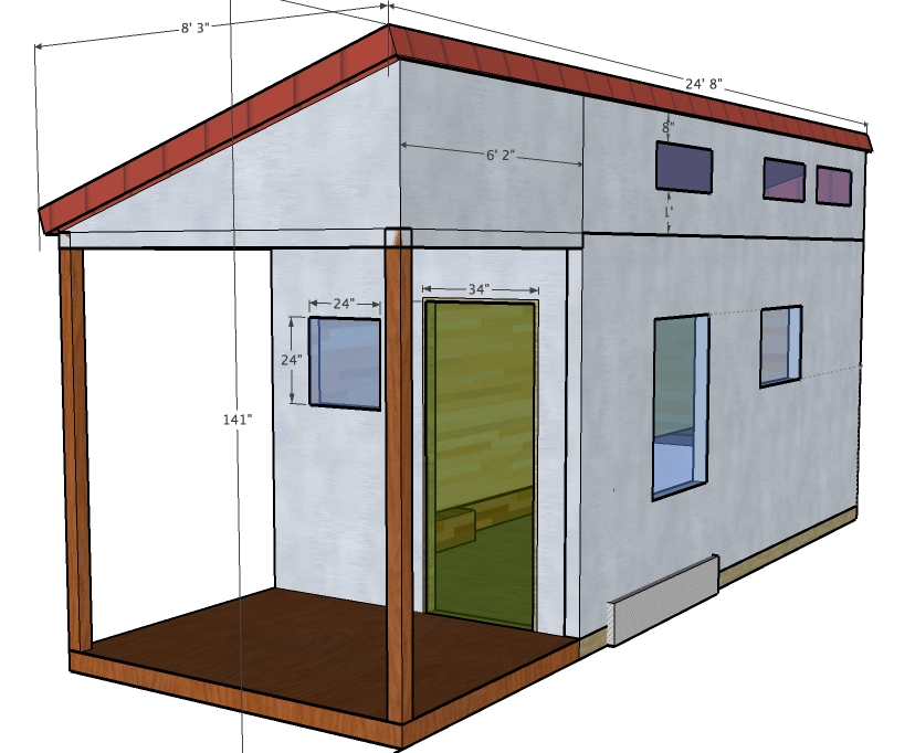 J j s tiny house for Blueprint small house plans