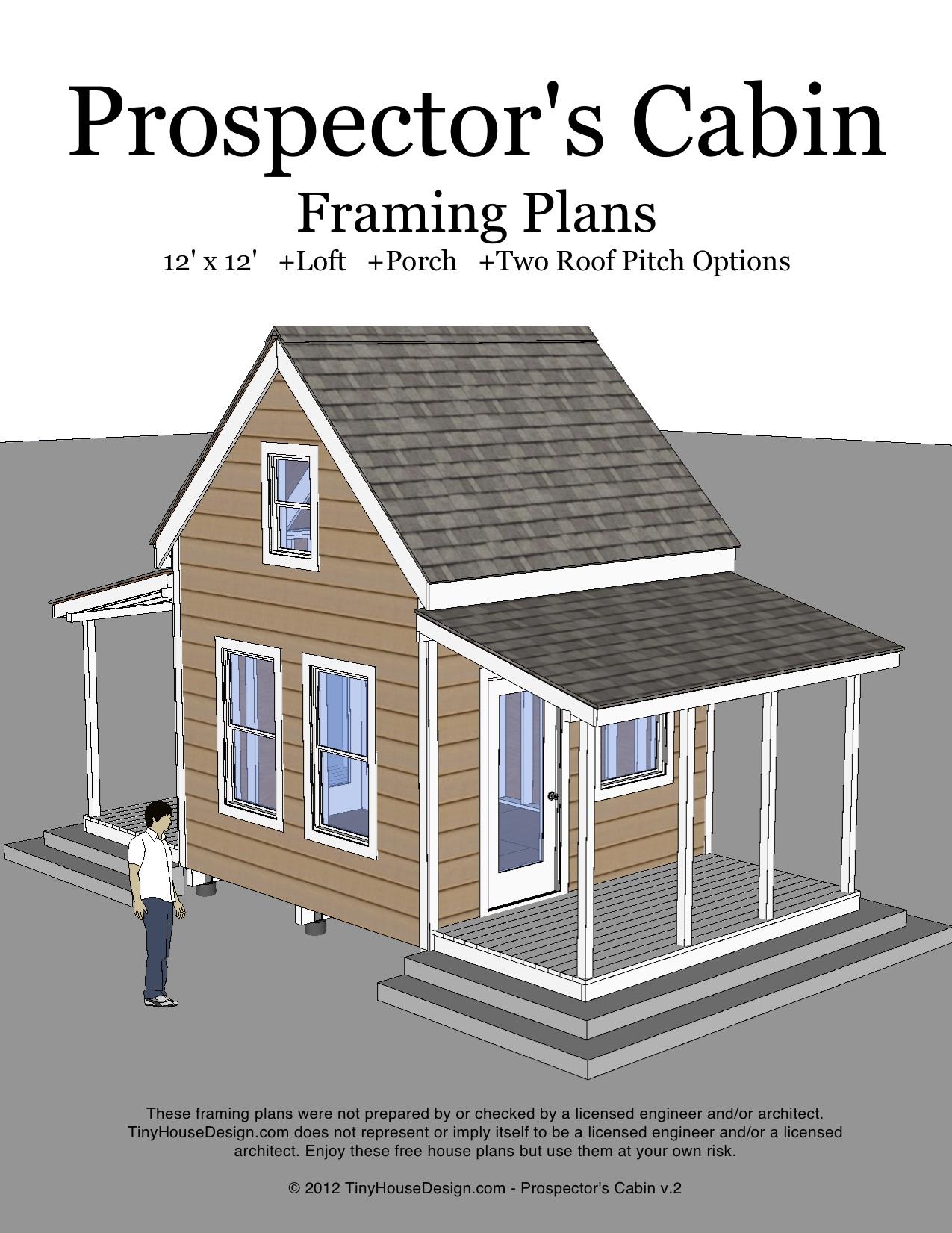 Prospectors Cabin 12x12 v2 cover?resize=450%2C582 prospector's cabin (12'x12\u2032),12x12 Tiny House Plans