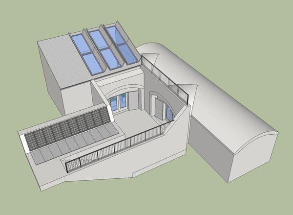 Small underground house shelter for Underground home plans designs