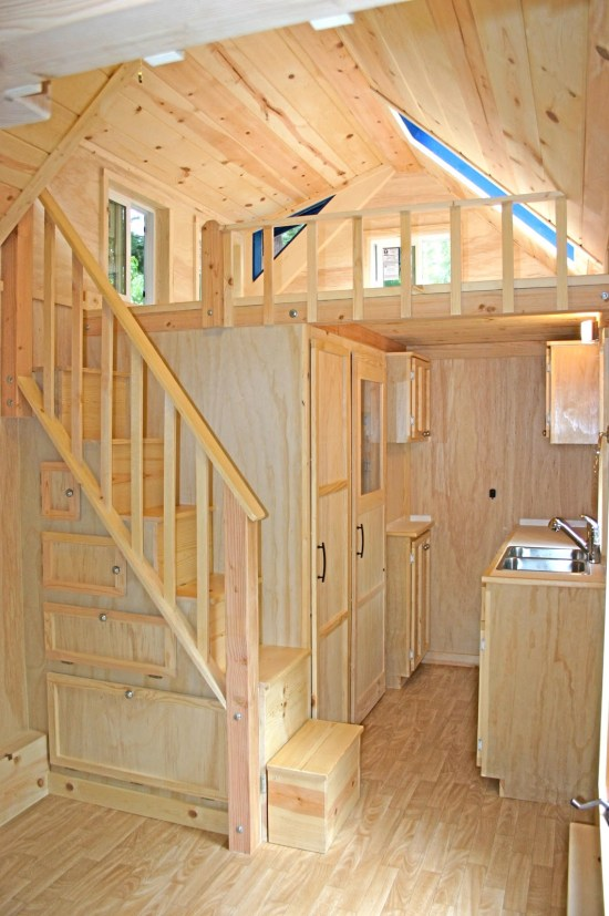 Molecule Tiny Homes - Kitchen and Stairs Detail