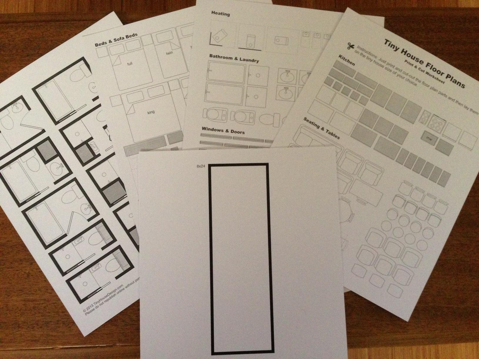 Print Cut Floor Plan Worksheet