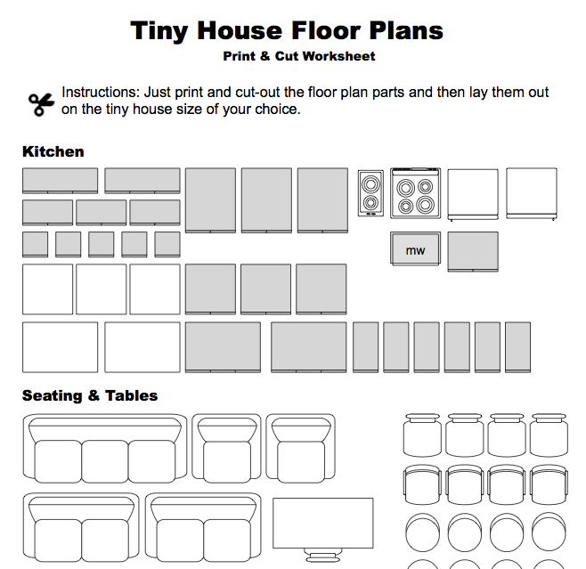 Print cut floor plan worksheet for Printable floor plans