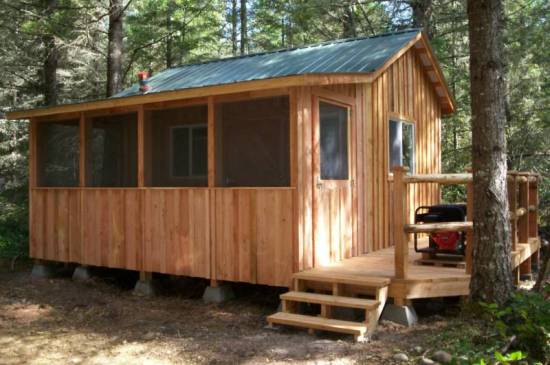 Rough Cut Sheds Cabin