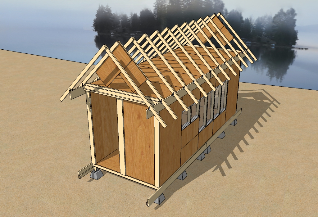 Above Panels And Framing All Tied Together With An Exo Skelaton Of Wood If You Wanted A Flat Roof You D Nearly Be Done If Not Continue With The Pitched