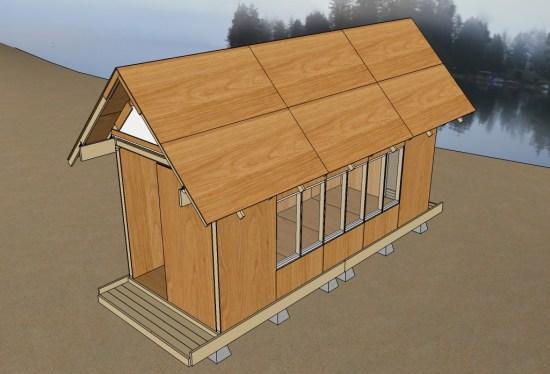Uncut Tiny House v3 31 Roof Sheathing