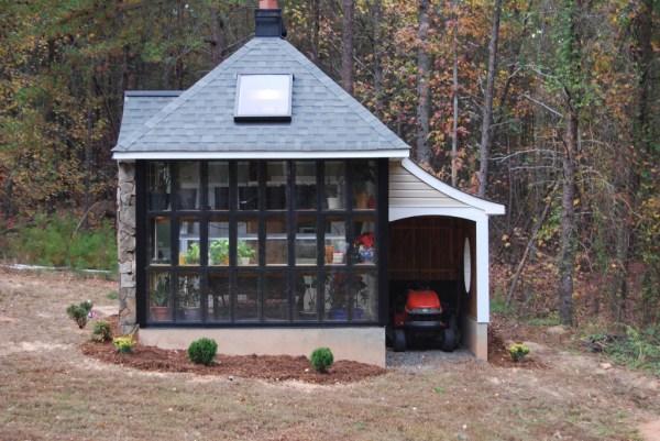 Jeffs Cabin Greenhouse - Side