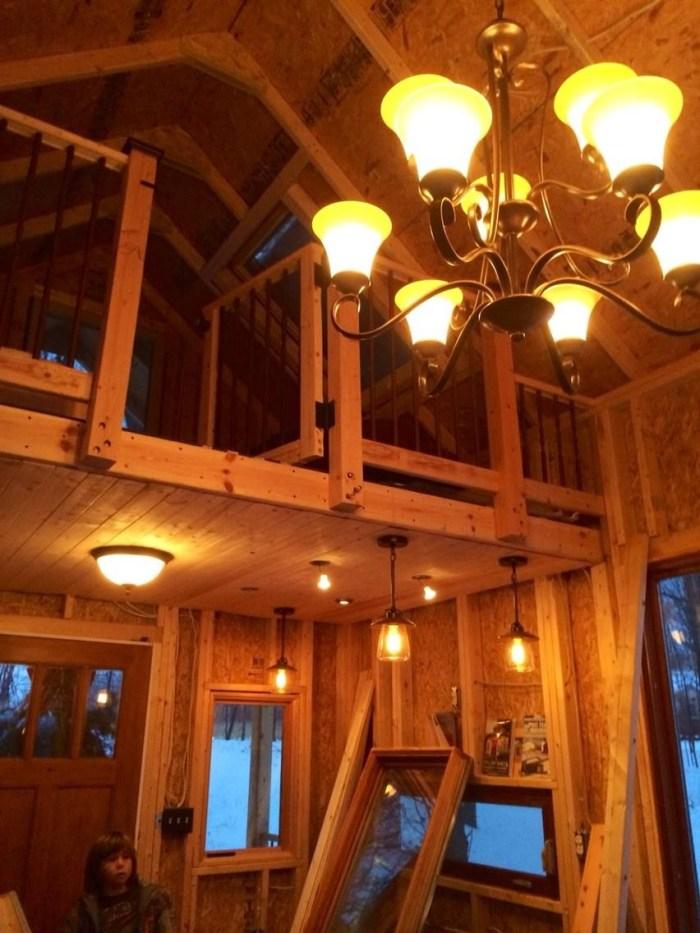 Family Builds Off-Grid Lakeside Cabin Near Columbus, Ohio - loft