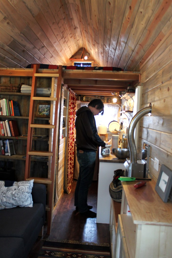 TINY - A Story About Living Small - Chris inside tiny house